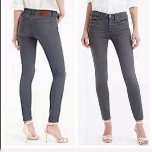 J.Crew Toothpick Skinny Jeans Gray 26 Stretch